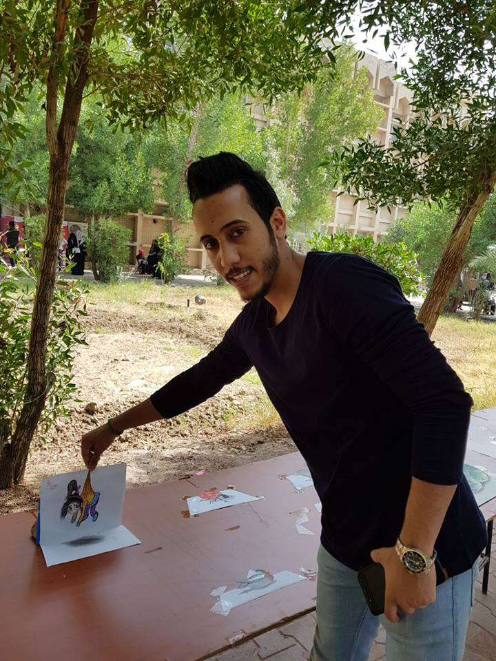 university-of-basrah-holds-an-exhibition-free-drawing